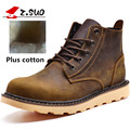 Z. Suo Men's Boots Leather Fashion Boots Man Leisure Fashion Winter To Add Fluff Warmth Men Boots Ankle Bots Dr Martins Zs359M