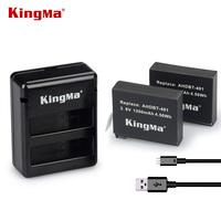 KingMa Hot Sale 2 Pcs 3 8V 1200mAh Camera Battery AHDBT 401 Charger For GoPro Hero