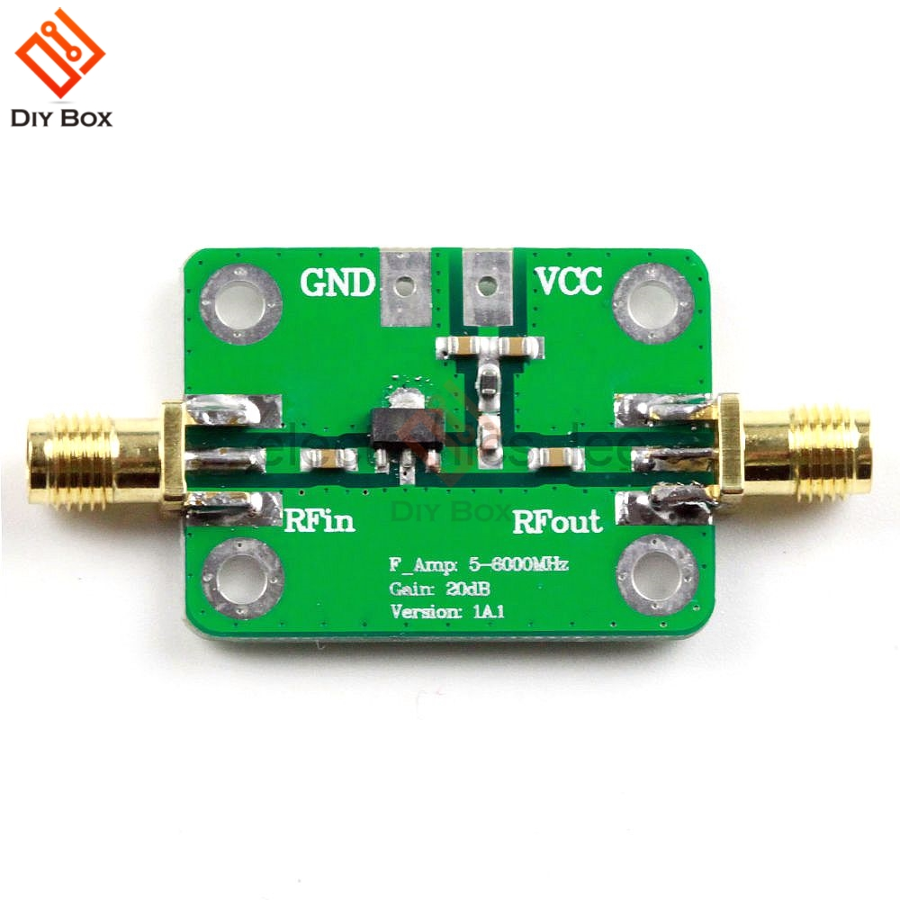 5-6000MHz 5M-6 GHz Gain 20dB RF Ultra-wideband Power Amplifier Suitable For All Types Of Fixed-gain RF Signal Amplification DC5V image
