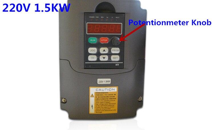 Nouveau variateur de fréquence VFD inverseur 1.5KW 2HP 220 V 7A 1.5kw onduleur avec bouton potentiomètre 220 V AC