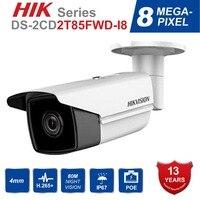 Hik оригинальный DS-2CD2T85FWD-I8 цилиндрическая камера 8MP PoE камера безопасности с 80 m ИК диапазон Обновление версии DS-2CD2T85FWD-I5