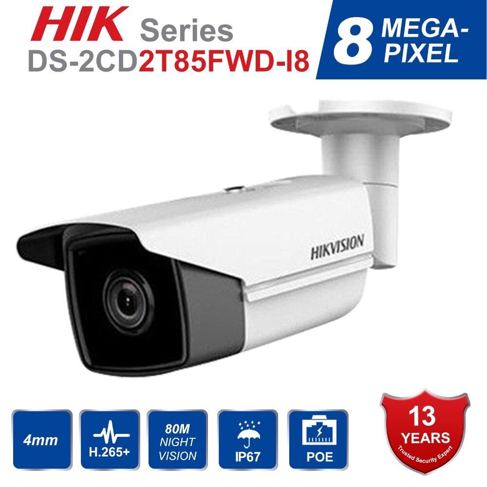 Hik Original DS 2CD2T85FWD I8 Bullect Camera 8MP POE Security Camera With 80m IR Range Upgrade