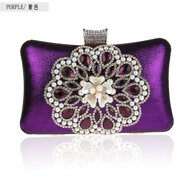 ФОТО New exquisite diamond banquet package packet pearl evening bag clutch bag dress