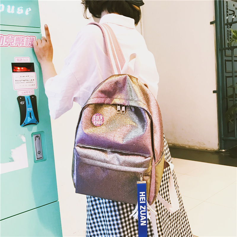 Hologram Laser Backpack For School Student Women's Laser gold Color Holographic Bag backpacks Women Backpack Mochila For Teenage
