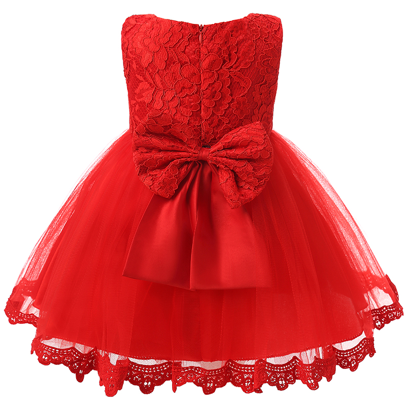 Baby Girls Dresses Summer 2017 Baby Christening Toddler Girl Ball Gown Red Princess tutu Dress For Baby Girl Clothing 1-2 Years 2017 lovely toddler girl dress princess stripe tutu baptism child clothes 1 year birthday baby girls dresses for infant 2 year