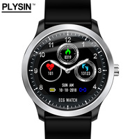 Smart Watch men ECG IP68 waterproof Sleep tracker Passometer message push compatible with all OS leather belt n58 made by PLYSI