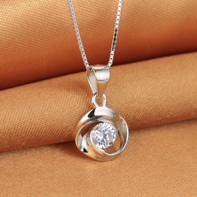 circle of love series promise of love necklace fashion exquisite gift - Fine Jewelry - Photo 4