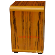 Afanti Music Zbrawood Tiger Grain Maple Natural Cajon Drum KHG 180