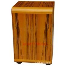 Afanti Music Zbrawood / Tiger Grain Maple / Natural Cajon Drum (KHG-180)
