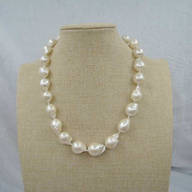 100% NATURE FRESH-WATER Baroque PEARL NECKLACE-good quanlity- earring gift 100% NATURE FRESH-WATER Baroque PEARL NECKLACE-good quanlity- earring gift