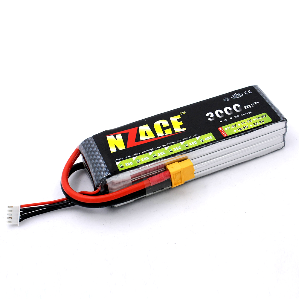 NZACE 4S lipo battery 14.8v 3000mAh 30C rc helicopter rc car rc boat quadcopter remote control toys Li-Polymer battey xxl a grade 4s lipo battery 14 8v 5200mah 30c helicopter rc car quadcopter remote control toys li polymer battey rc parts