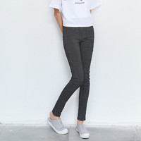 Super High Quality Skinny Long Pants Woman Vertical Stripes Elastic Stretch Bottoms Slim Sheath Pencil Trousers