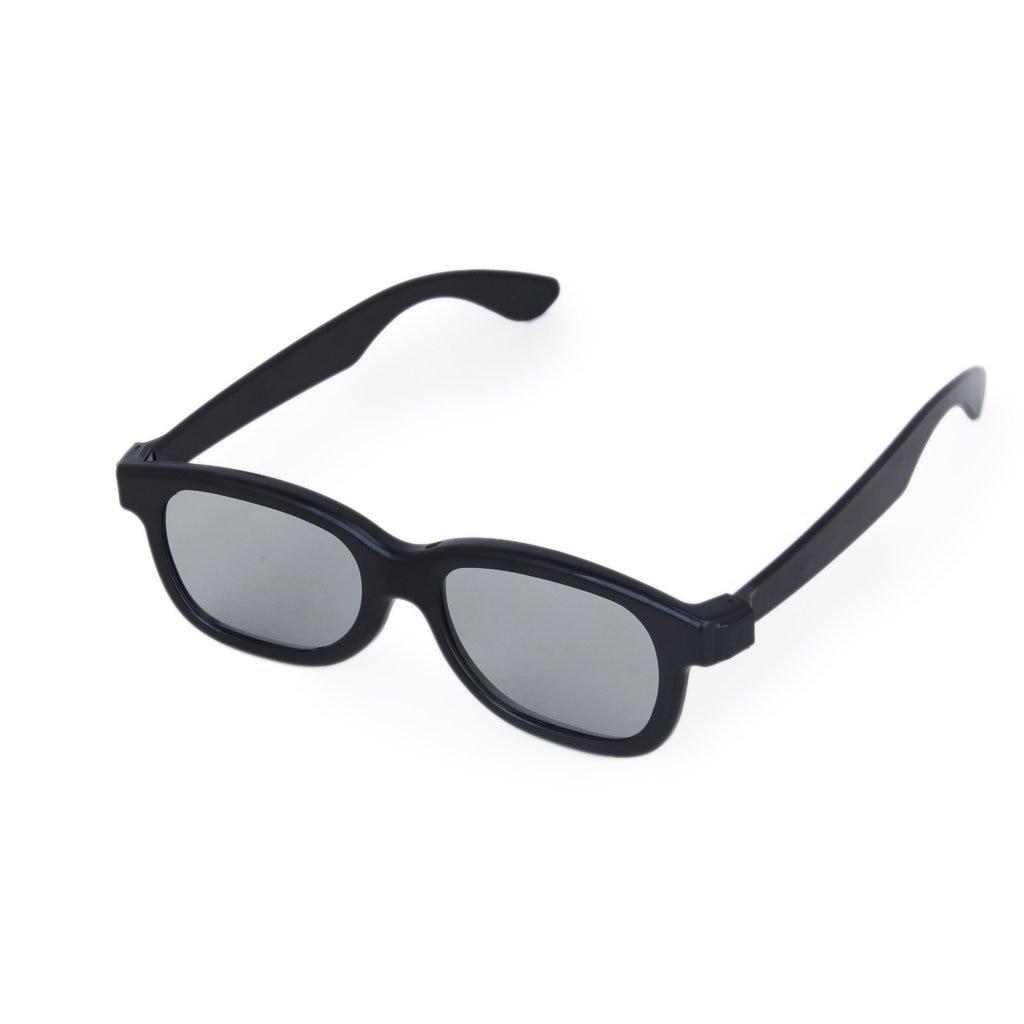ETC-5 Pairs of Adults Passive Circular Polarized Lens 3D Glasses Black