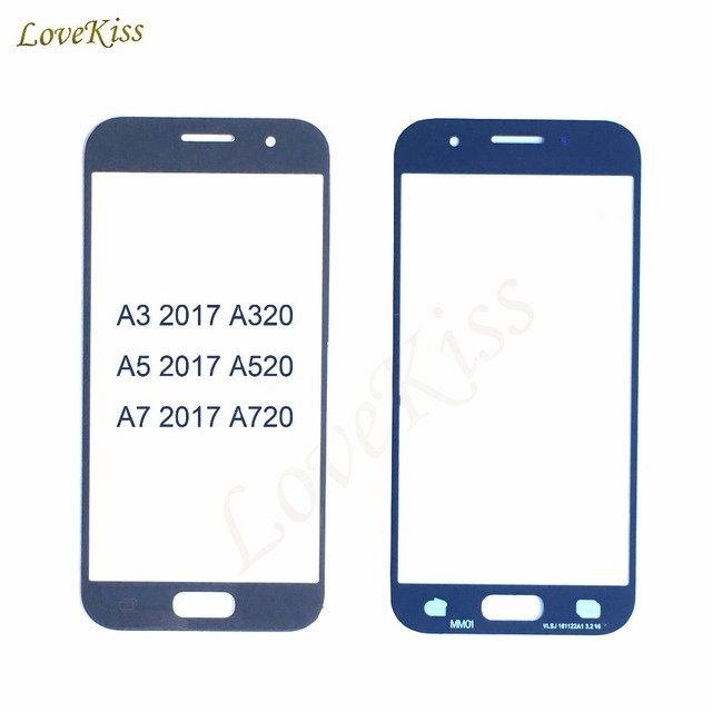 10pcs/lot Touch Screen For Samsung Galaxy A7 A5 A3 2017 Duos A320F A520F A720F Touchscreen Front Glass Replacement No LCD Track
