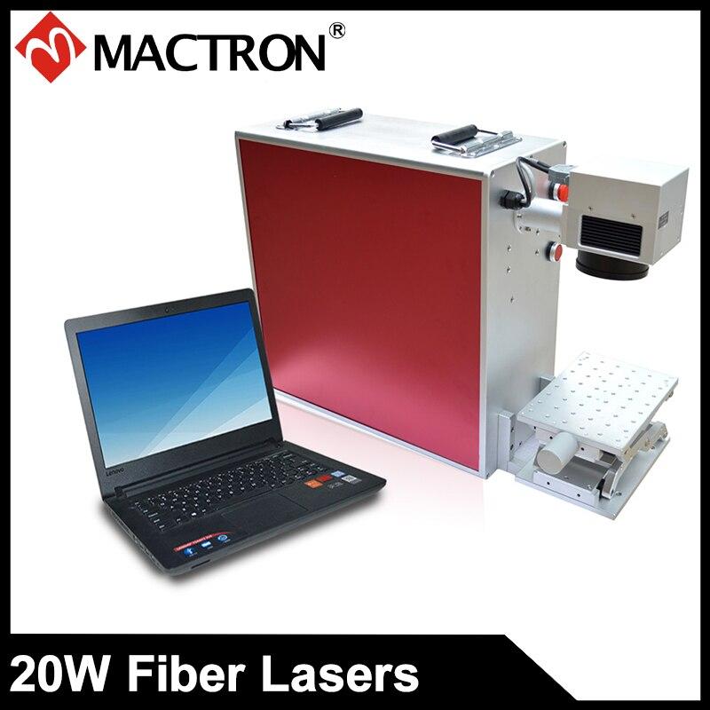 Machine de marquage Laser à Fiber optique de marque Mactron 20 W pour le marquage de porte-clés, PCB, bijoux, bagues, étiquettes d'oreille d'animaux