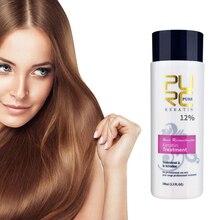 PURC إصلاح الضرر جعد 12% البرازيلي الكيراتين 120 مللي تنقية الشامبو الشعر استقامة علاج الشعر السلس لامعة TSLM2