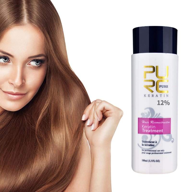 PURC Repair Damage Frizzy 12% Brazilian keratin 120ml purifying shampoo hair straightening Hair Treatment smooth shiny TSLM2 image