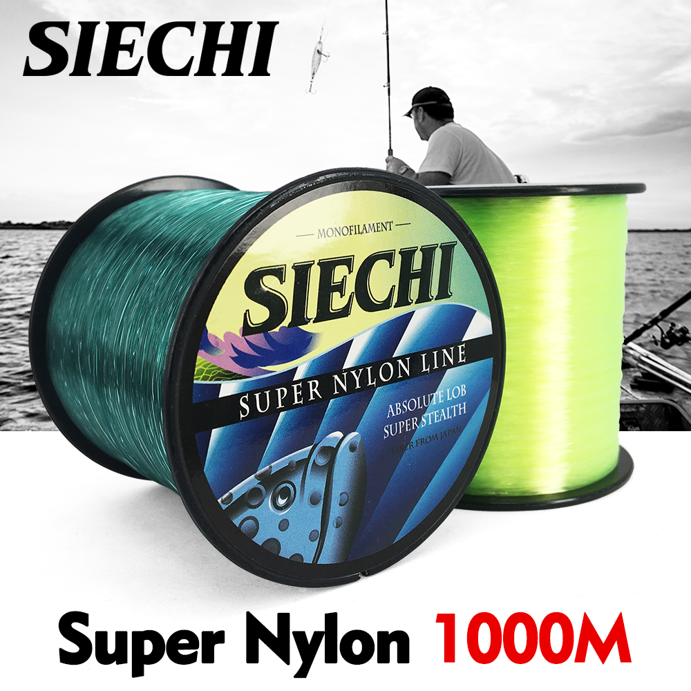 SIECHI 1.0#-8.0# 1000M Monofilament Japan Fly Nylon Fishing Lines For Carp Fishing Accessories Pesca Super Strong