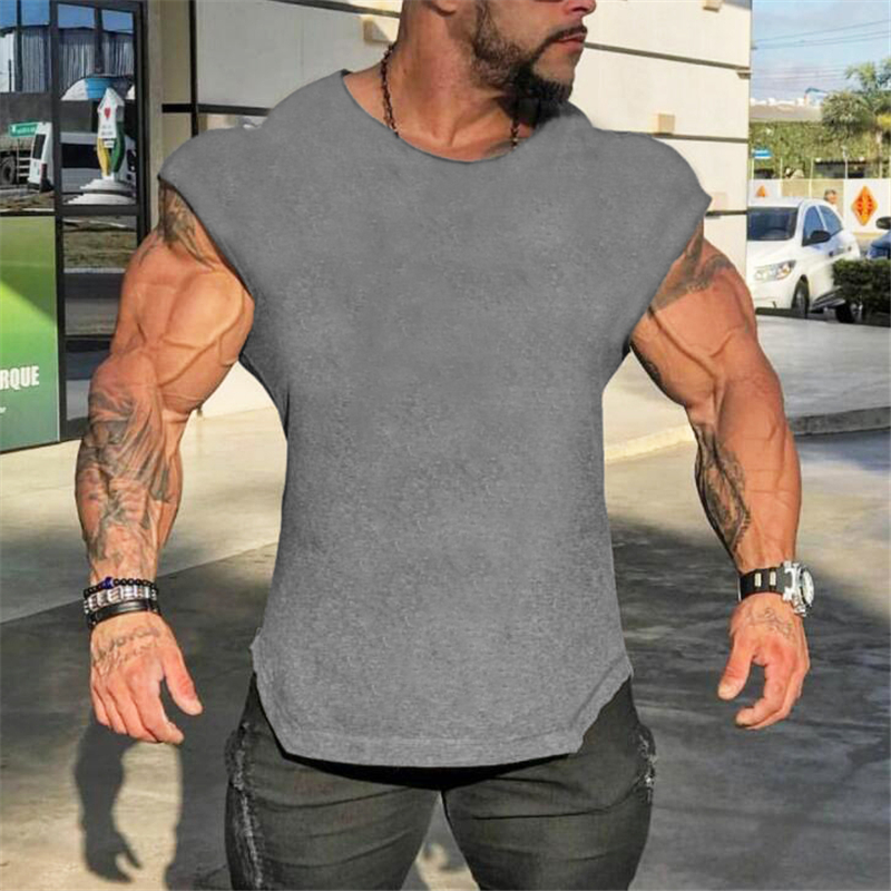 Brand Gyms Tank Top Mens Sleeveless Shirts Summer Cotton Slim Fit Men Clothing Bodybuilding Undershirt Fitness Tops Tees