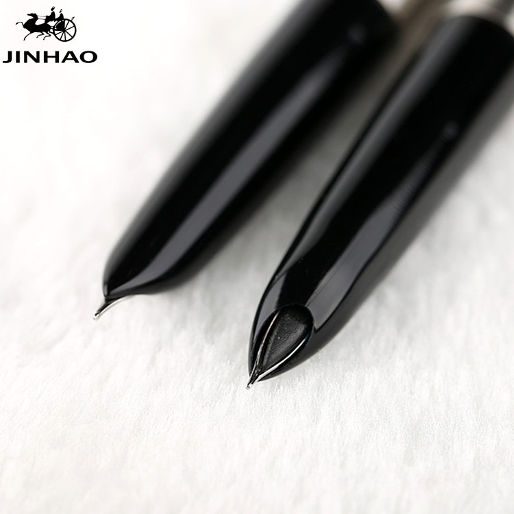 Jinhao 911 Pure Silver Steel Fountain Pen With 0.38mm Extra Fine Nib Smooth Writing Inking Pens For Christmas Gift Free Shipping