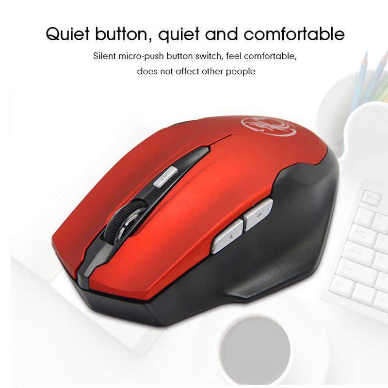 ماوس لاسلكي صامت 2.4 جيجاهرتز من imice للالعاب مريح كمبيوتر USB صغير بصري زر هادئ للماوس ألعاب الكمبيوتر المحمول