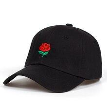 Rose embroidery baseball cap women Adjustable Snapback Cap m