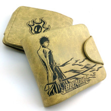 Anime PU Leather Khaki Wallet/Bleach Kurosaki Ichigo Short Purse