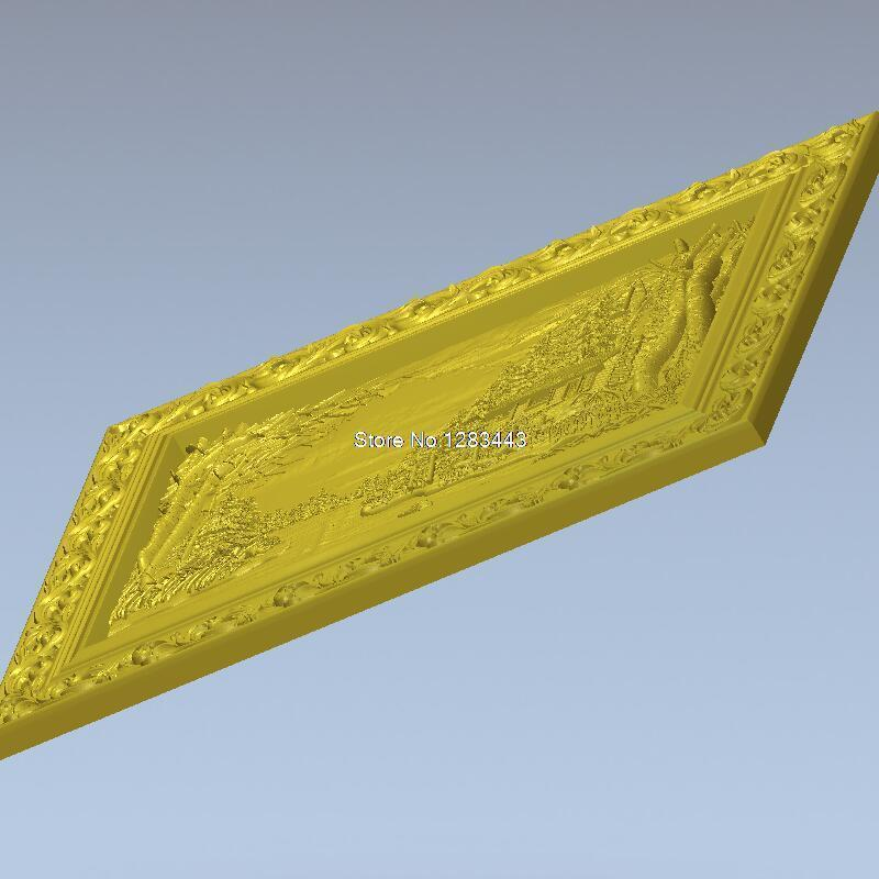 High quality 3d model relief  for cnc or 3D printers in STL file format panno_VOLSHEBNII_PEIZAJ high quality 3d model relief for cnc or 3d printers in stl file format panno general duhi