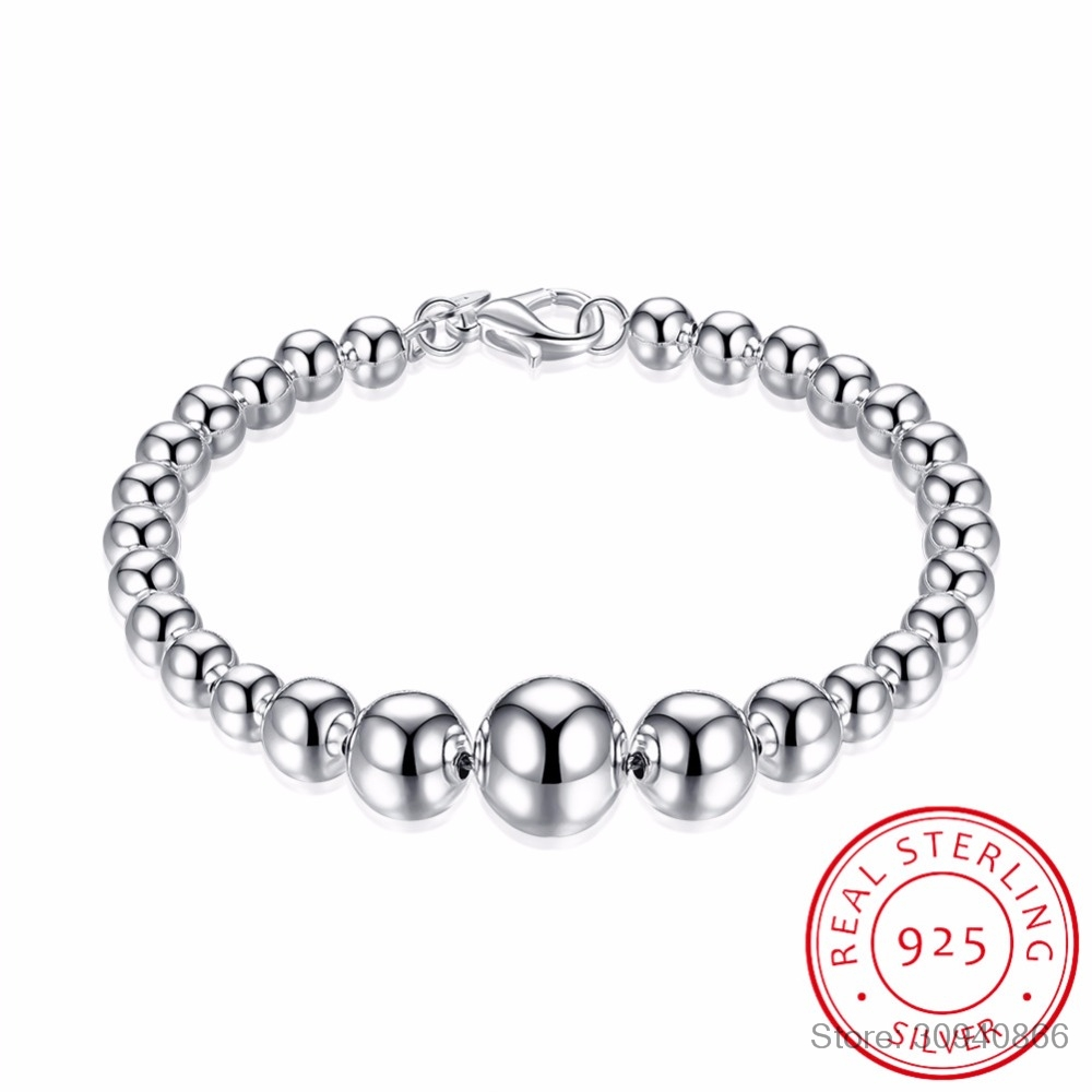 100% 925 Silver Fashion Women's Jewelry Full Heart Bracelet 20cm For Gift Girl Lady Free Shipping Hot Sale Gift Wholesale