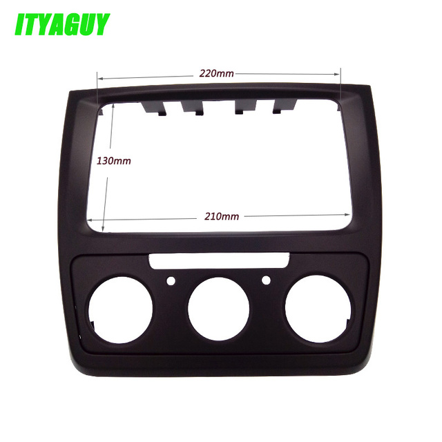ITYAGUY Radio Frame Audio fascia for Skoda yeti Manual AC Car refitting DVD frame DVD panel Dash Kit