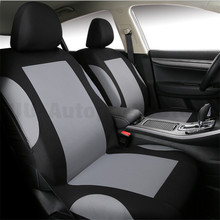 цена на Universal  Gray Car Seat Covers Set (Front +Rear) Seats Headrests Free Shipping