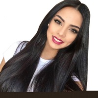 180% Density Glueless Full Lace Human Hair Wigs Brazilian Straight Full Lace Wigs With Baby Hair Pre Plucked Hairline Favor Hair