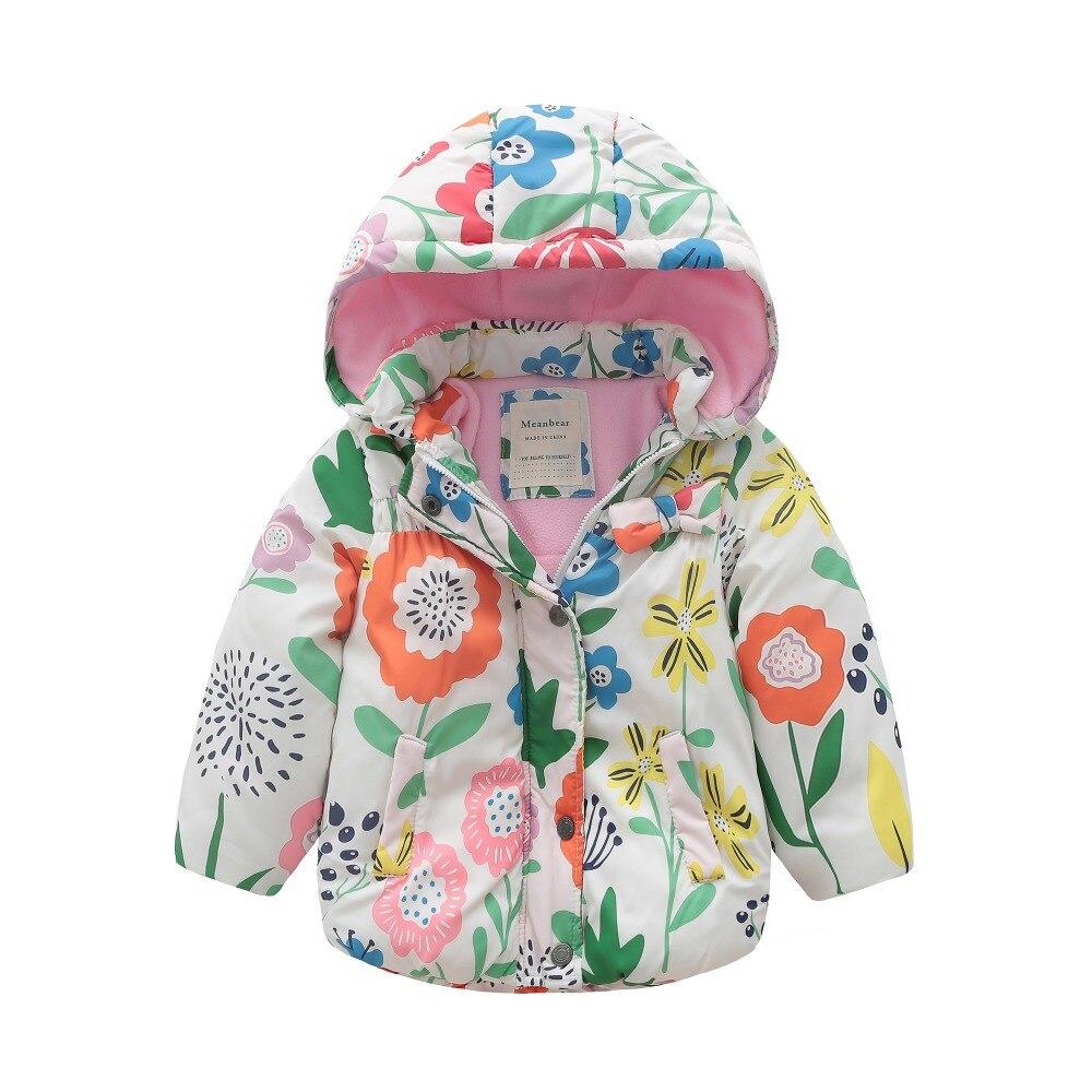 Toddler Baby Girl Kids Hooded Jacket Coat Winter Warm Padded Parka Tops Outwear