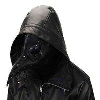 Черный искусственная кожа костюм маски для век взрослых чума доктор косплэй рок Готический стимпанк птица маска Хэллоуин Карнавал