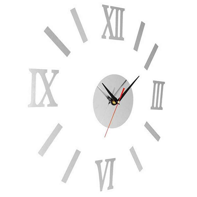 Luxury Large Wall Clock Living Room DIY 3D Home Decoration Mirror Art Fashion Wall Posters Decor Crafts Wall Clock adesivos