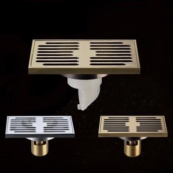 Casa de ducha de cobre desodorización tipo drenaje de piso nueva llegada baño latón drenaje rápido