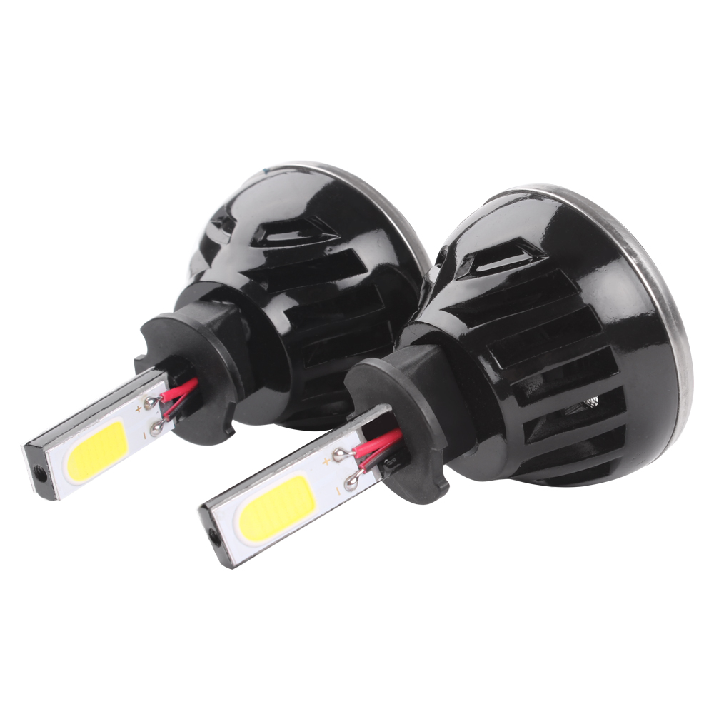 ФОТО G5 H3 LED Headlight H1 H4 H7 H11 HB4 80W 6000K Car-styling Lamp With Fan Pure White Car Head Light Automobile