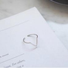 925 Sterling Silver V Shaped Ring