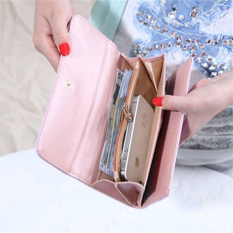 última tendência mulheres carteira de Carteira Feminino : Leather Wallet