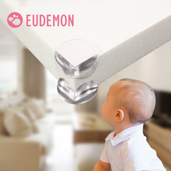 EUDEMON 20pcs/lot Child Baby Safety Silicone Protector Table Corner Edge Protection Cover Children Anticollision Edge & Guards