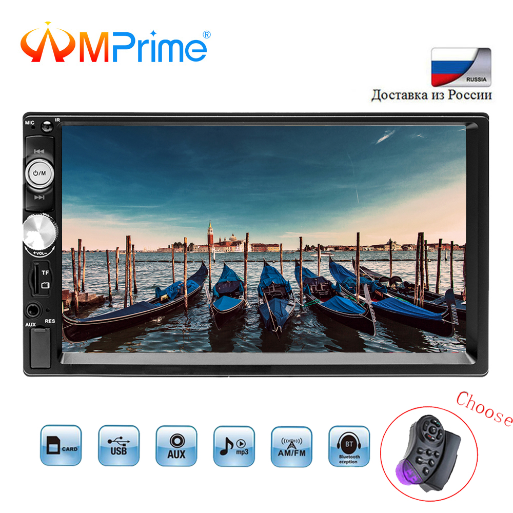 AMPrime 2 Din Car Radio 7 HD Autoradio Bluetooth USB FM Car Multimedia Player Support font