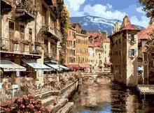 scenery painting by numbers on canvas framed wall art for living room 40X50cm coloring by numbers home decoration painting
