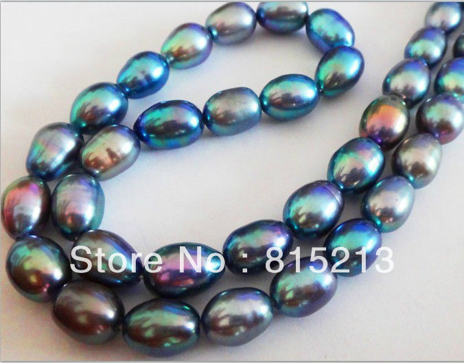 Hot selling>  NATURAL 1812X9MM TAHITIAN GENUINE PEACOCK BLUE GREEN PEARL NECKLACE AAA+ -Bride jewelry free shippingHot selling>  NATURAL 1812X9MM TAHITIAN GENUINE PEACOCK BLUE GREEN PEARL NECKLACE AAA+ -Bride jewelry free shipping