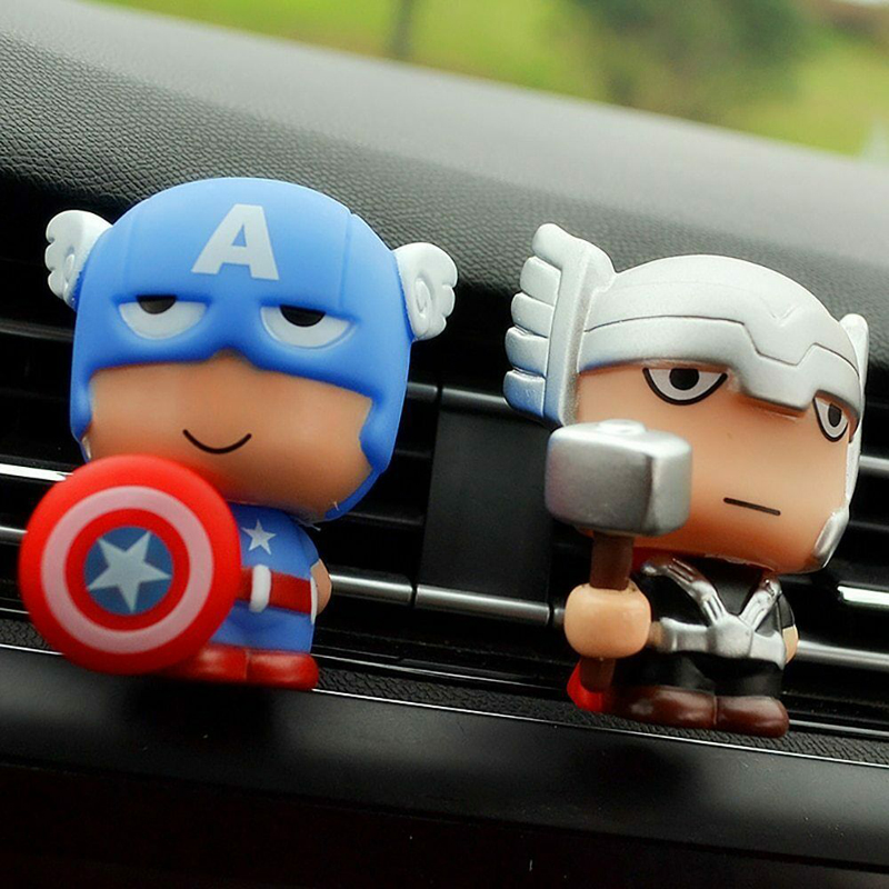 Image 2 - Automotive Freshener Car Perfume Clip For The Avengers Marvel Superhero Figures Auto Vents Scent Diffuser In The Car Accessories-in Air Freshener from Automobiles & Motorcycles