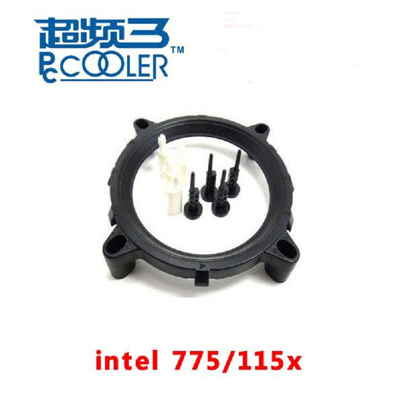 PcCooler For Intel LGA 775 1150 1151 1155 1156 CPU Cooler Bracket Motherboard Socket intel LGA CPU fan intall fastening Plastic alloyseed g1 4 thread computer water cooling gpu waterblock cpu radiator cooler for intel lga 1150 1151 1155 1156