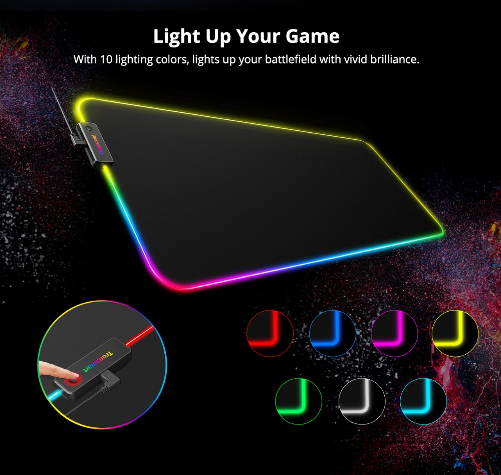 Tronsmart Spire Gaming Mouse Pad Compupter Mouse Pad Gamers RGB Large Mouse Pad with Waterproof,Non-slip for world of warcraft 03