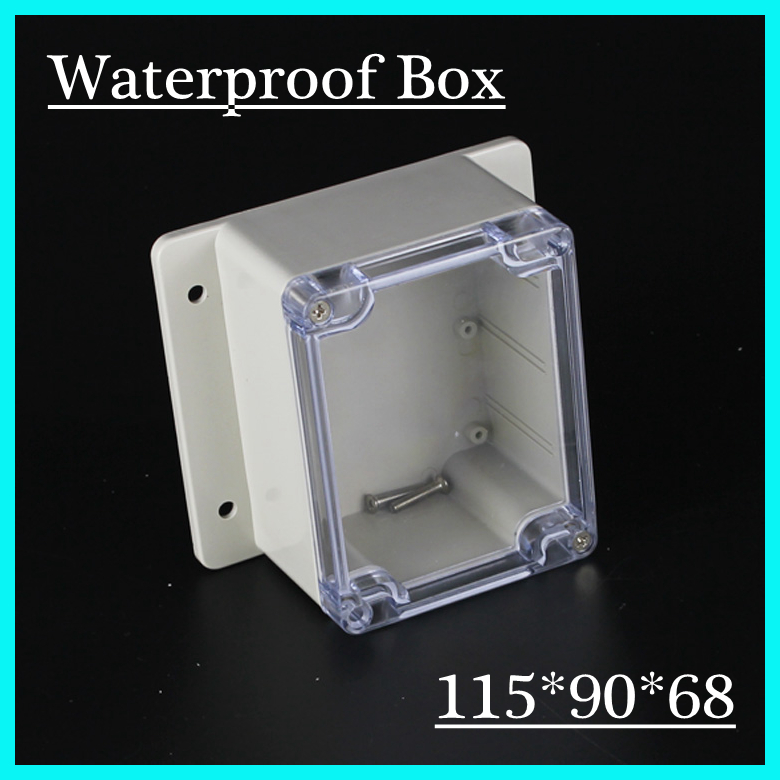 (1 piece/lot) 115*90*68mm Clear ABS Plastic IP65 Waterproof Enclosure PVC Junction Box Electronic Project Instrument Case 1 piece lot 320x240x110mm grey abs plastic ip65 waterproof enclosure pvc junction box electronic project instrument case