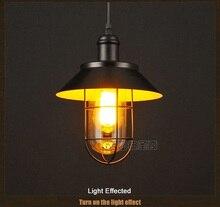 Бесплатная доставка скандинавский старинные американской стране промышленного завода droplight столовая/бар/спальня подвесной светильник