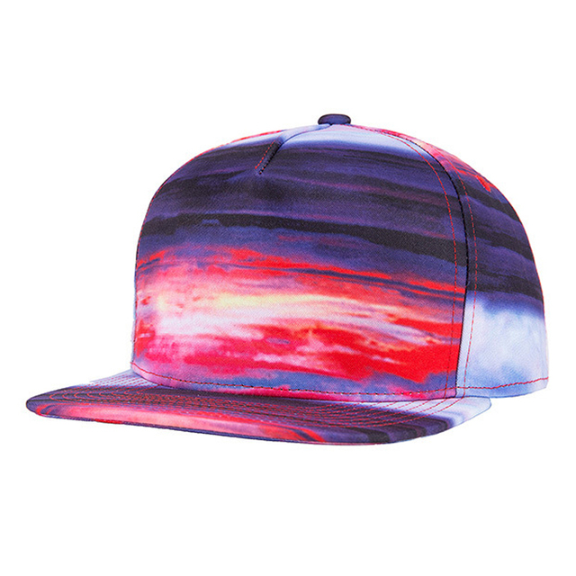 Super fashion Sky Rainbow pattern HD Print 5 panel baseball cap women men gorras planas hip hop WK528