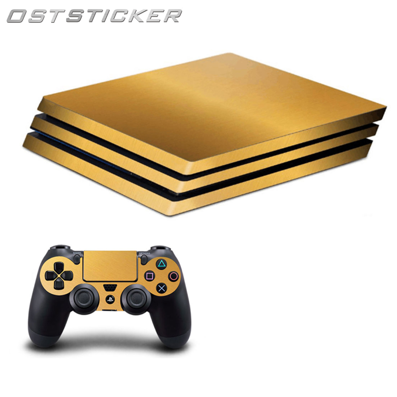 OSTSTICKER Protective Game Decal Cover Skin Sticker For PS4 Pro console For Playstation 4 controller Hot Selling